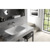 Lavabo Solid Surface rectangular Tesello 63,5 x 42,4 x 12 cm. Un lavabo con bonita forma estilizada fabricado en brillo o mate en Solid Surface.