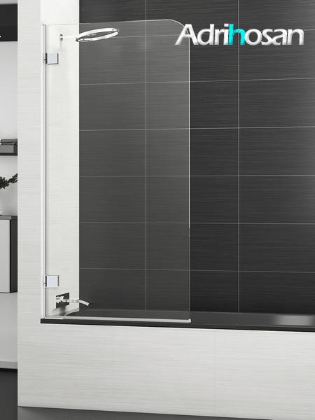 Mampara bañera abatible cristal transparente Boreal Sport con antical.