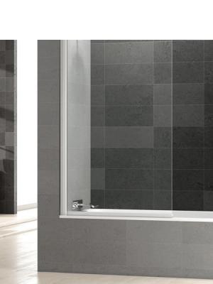 Mampara bañera abatible cristal transparente Perú con antical. Vidrio templado Securizado 6 mm. Apertura interior exterior con retención de 0º a 90º