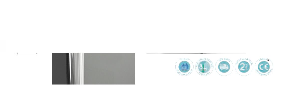 Mampara bañera abatible cristal transparente Polary Sport con antical. Vidrio templado Securizado 8mm. Apertura interior exterior con retención de 0º a 90º