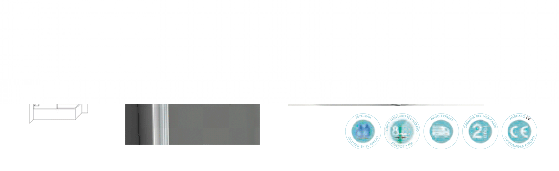Mampara bañera abatible cristal transparente Selecta Sport con antical. Vidrio templado Securizado 8mm. Apertura interior exterior con retención de 0º a 90º