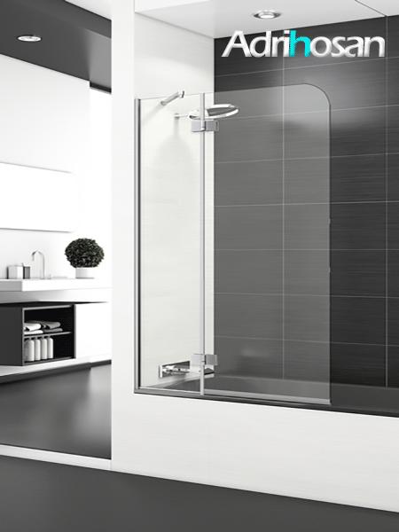 Mampara bañera abatible + fijo cristal transparente Boreal Sport con antical.