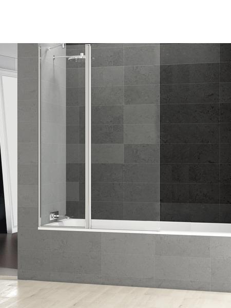 Mampara bañera abatible + fijo cristal transparente Perú con antical. Vidrio templado Securizado 6 mm.Apertura interior exterior con retención de 0º a 90º