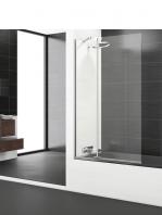 Mampara bañera abatible + fijo cristal transparente Polary Sport con antical. Vidrio templado Securizado 8mm.Apertura interior exterior con retención de 0º a 90º
