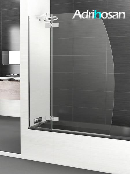Mampara bañera abatible + fijo cristal transparente Selecta con antical.