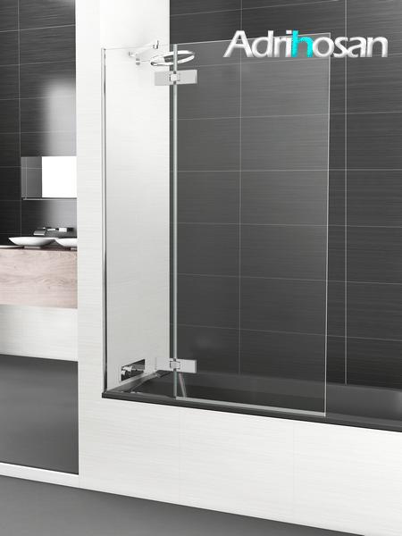 Mampara bañera abatible + fijo cristal transparente Selecta Sport con antical.