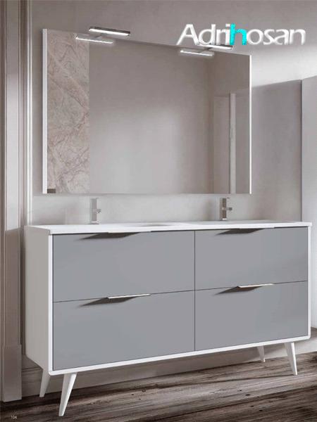 Mueble de baño a suelo Vintass 120 4 cajones blanco mate