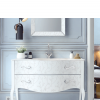 Mueble de baño de diseño a suelo Vivaldi de 1 cajón Fiora. El objetivo de la colección de muebles de baño Vivaldi es reivindicar el estilo de diseño Vintage