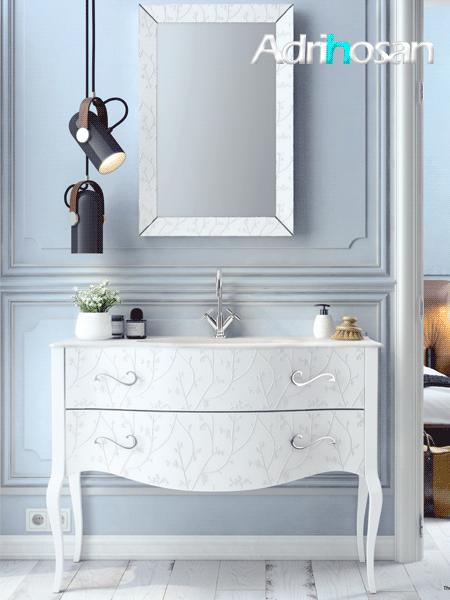 Mueble de baño de diseño a suelo Vivaldi de 2 cajones Fiora