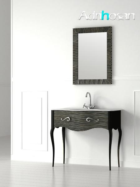 Espejo de baño enmarcado de diseño Vivaldi de Fiora