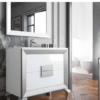 Mueble de baño L-gant Kuadrus 80 cm 2 cajones. Un bonito mueble de baño de fabricación nacional y de calidad premium, realizado con maderas hidrófugas.