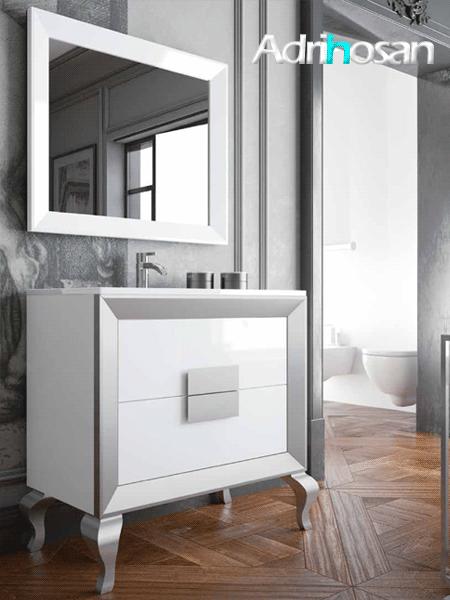 Mueble de baño L-gant Kuadrus 80 cm 2 cajones
