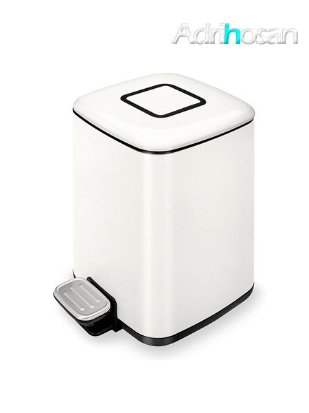 Papelera con pedal, depósito y disipador de olores 9 litros blanca