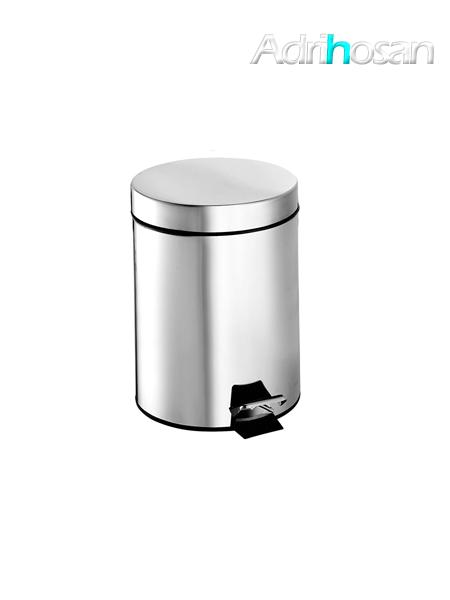 Papelera con pedal y depósito acero inox 12 litros- Accesorio de baño