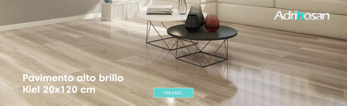 Pavimento porcelánico alto brillo Kiel 20x120 cm