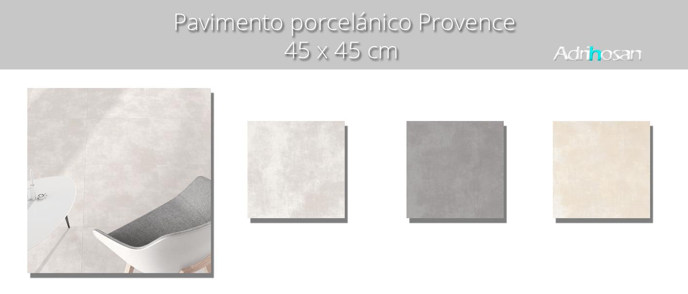 Pavimento porcelánico imitación cemento Provence perla 45 x 45 cm. Azulejo para suelos para crear diseños industriales o incluso minimalistas.