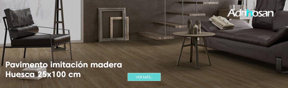 Pavimento porcelánico alto brillo Huesca 25x100 cm