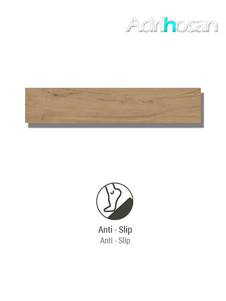 Pavimento porcelánico rectificado antideslizante Praga natural 22.5 x 119.5 cm (1.61 m2/cj)