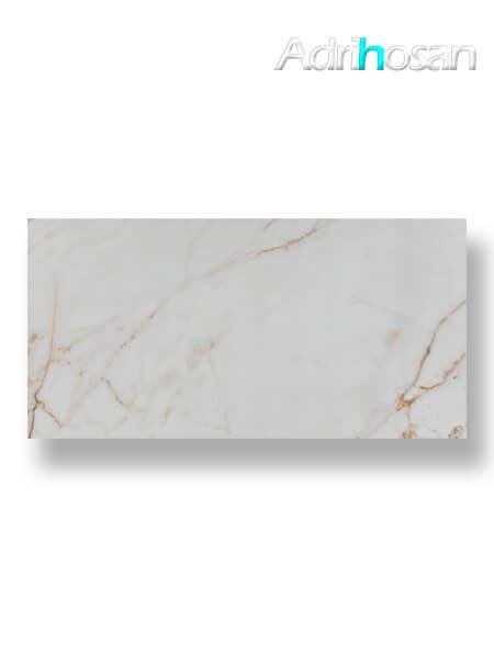 Pavimento porcelánico rectificado Calacatta Gold pulido 90 x 180 cm (1.62 m2/cj)