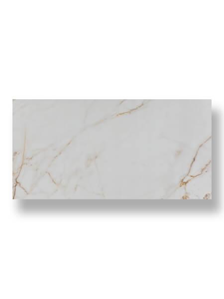 Pavimento porcelánico rectificado Calacatta Gold pulido