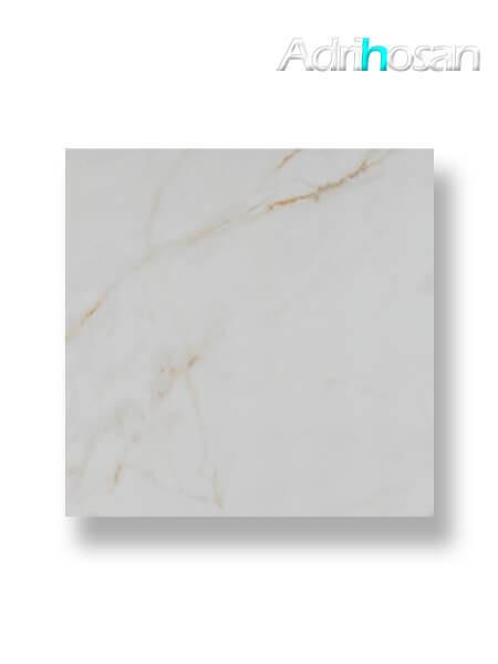 Pavimento porcelánico rectificado Calacatta Gold pulido 120 x 120 cm (1.44 m2/cj)