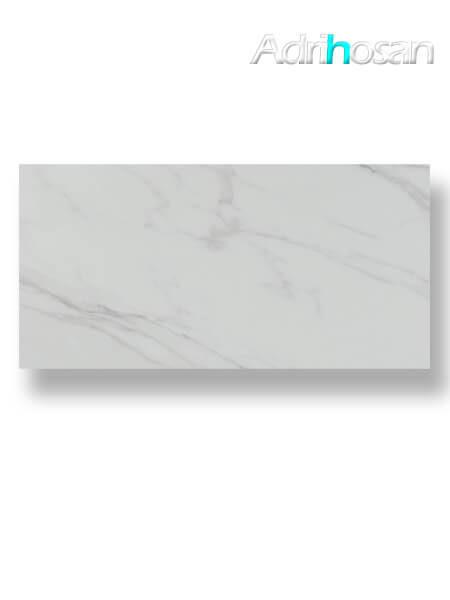 Pavimento porcelánico rectificado Calacatta brillo 60 x 120 cm (1.44 m2/cj)