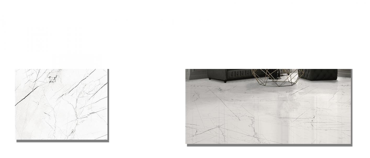 Pavimento porcelánico rectificado Pandora brillo 98x98 cm .Un azulejo para suelos y paredes que imita al mármol italiano de diseño.
