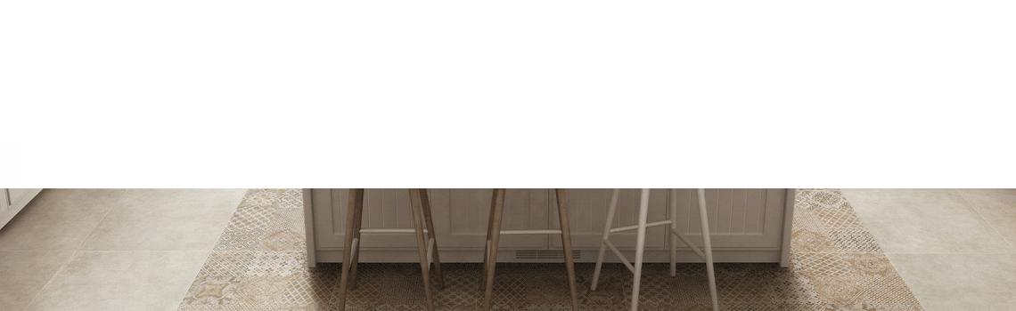 Pavimento porcelánico Rodas beige 60x60 cm.Un azulejo para suelos y paredes que imita al cemento para diseños industriales de interior o exterior.
