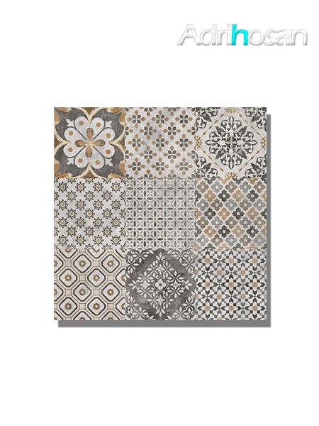 Pavimento porcelánico Rodas charcoal decor 60x60 cm (1.08 m2/cj)