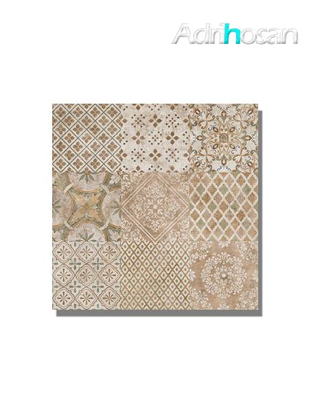 Pavimento porcelánico Rodas terracota decor 60x60 cm (1.08 m2/cj)