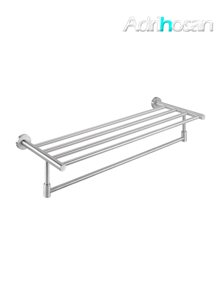 Porta toallas con barra acero inox 60 x 13 x 22 cm