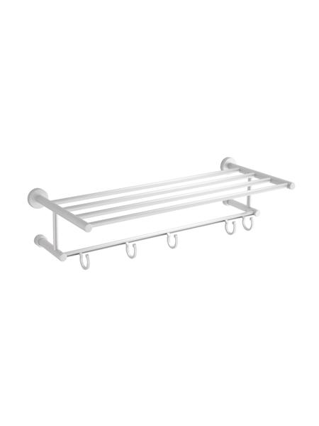 Porta toallas con perchas móviles aluminio mate 61 x 14 x 22 cm. Accesorio de baño de alta calidad especialmente pensado para hoteles.Aluminio mate
