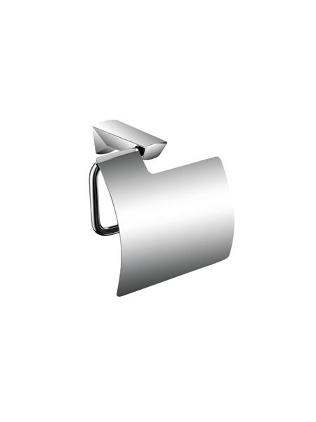 Portarrollo con tapa a pared serie Alicante - Accesorio de baño. Accesorio de baño fabricado en latón de primera calidad acabado cromo.