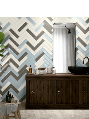 Revestimiento pasta blanca metro Ocean 7.5x30 cm. Un azulejo clásico fabricado con pasta blanca ideal para decoraciones retro y vintage.