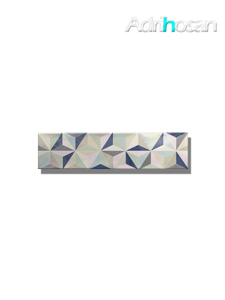Revestimiento decorado pasta blanca metro Ocean star mix 7.5x30 cm (1 m2/cj)