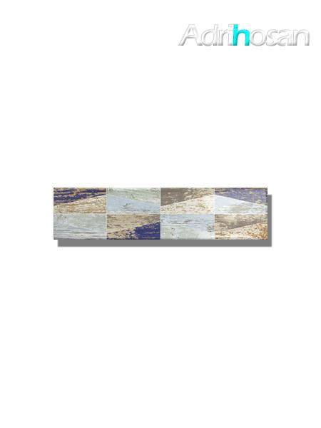 Revestimiento decorado pasta blanca metro Ocean wood mix 7.5x30 cm (1 m2/cj)