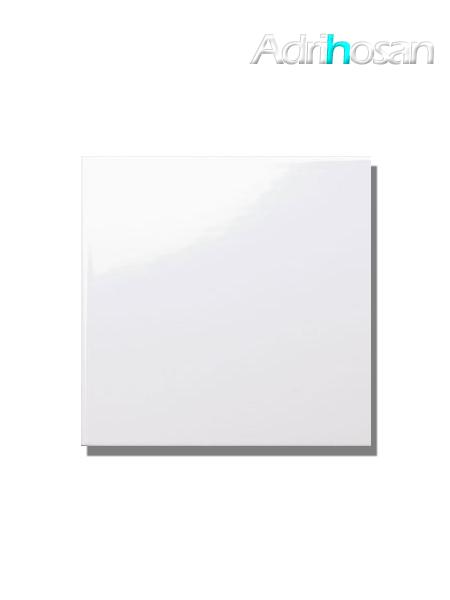 Revestimiento pasta roja liso blanco brillo 20x20 cm (1 m2/cj)