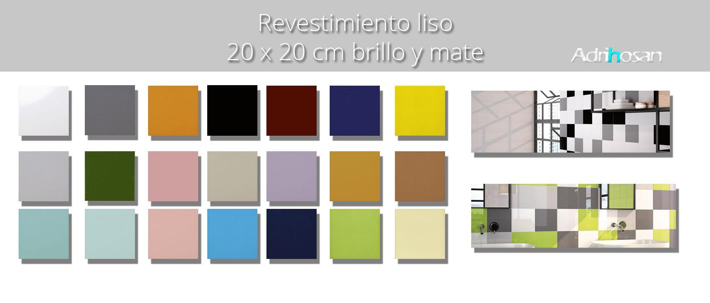 Revestimiento pasta roja liso brillo o mate 20x20 cm. Un azulejo clásico válido para revestir paredes con 14 colores disponibles en dos acabados.