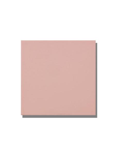 Revestimiento pasta roja liso Rosa claro mate 20x20 cm. Un azulejo clásico válido para revestir paredes con 14 colores disponibles en dos acabados.