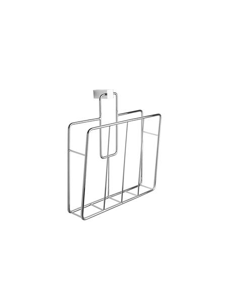 Revistero para colgar latón cromado 25.5 x 27 x 11 cm. Accesorio de baño de alta calidad especialmente pensado para hoteles.