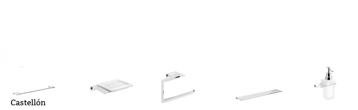 serie Castellón- Accesorio de baño. Accesorio de baño fabricado en latón de primera calidad acabado cromo.