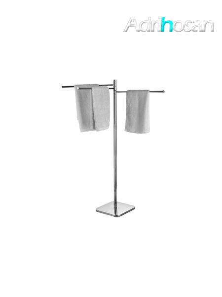 Toallero de pie tres barras acero inox cromado - Accesorio de baño