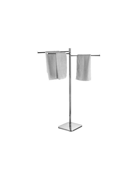 Toallero de pie tres barras acero inox cromado. Un toallero fabricado en acero inoxidable 304 y latón cromado con acabado brillo.