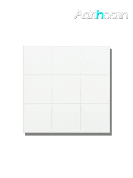 Azulejo liso blanco brillo 10x10 cm precorte en plaqueta 30x30 cm