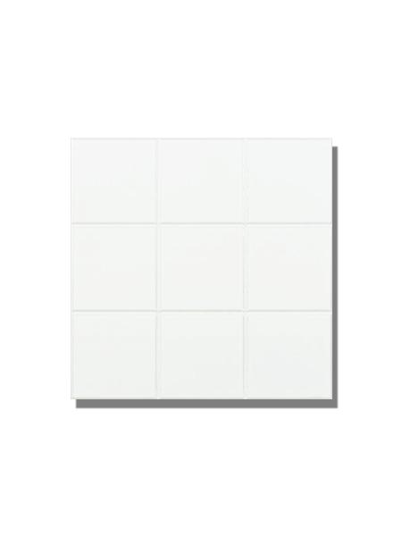 Azulejo liso blanco brillo 10x10 cm precorte en plaqueta 30x30 cm. El clásico azulejo para decoraciones retro o vintage o incluso modernas o minimalistas.
