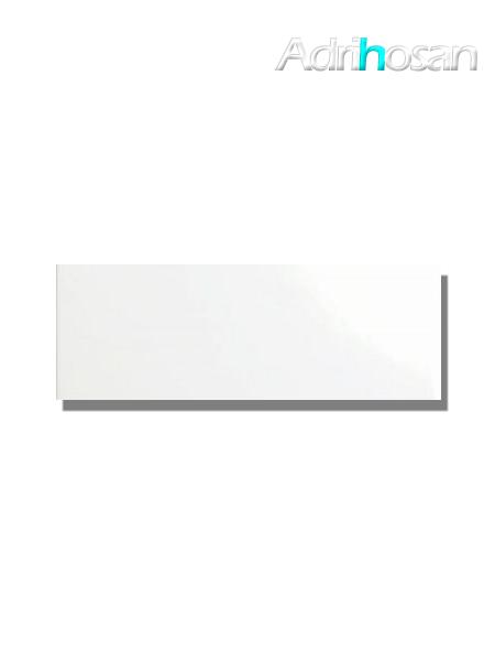 Azulejo liso blanco mate 10X30 cm (1 m2/cj)