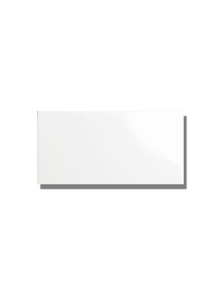 Azulejo liso blanco brillo 15X30 cm. El clásico azulejo para decoraciones retro o vintage o incluso modernas o minimalistas. Primera calidad.