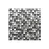 Malla de acero inox y cristal Helsinki Silver 30x30 cm. Malla de cristal y acero inoxidable para realizar decoraciones espectaculares en baños o cocinas.
