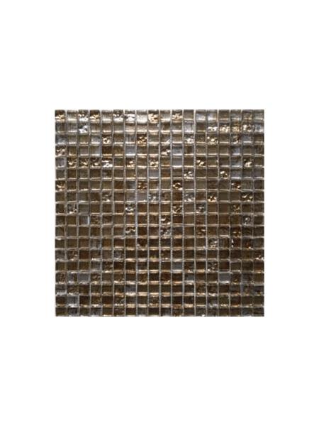 Malla de cristal grafiti gold 30x30 cm. Malla de cristal de tesela pequeña para realizar decoraciones espectaculares en baños o cocinas.
