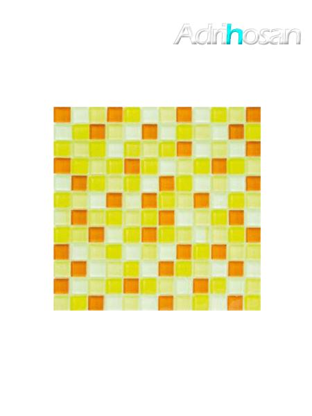 Malla de cristal Murano amarillo 30x30 cm (venta por mallas)